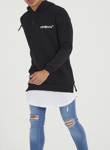 XHAN Bordo Sırtı Garnili Etek Ucu Penye Detaylı Sweatshirt 1Kxe8-44363-05 Siyah